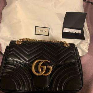 Gucci marmont black Size large